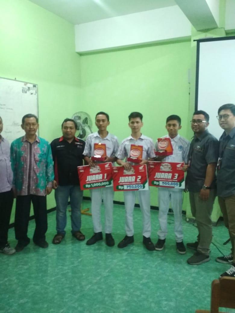 Raih Juara 1 dan 2, Honda Student Skill Contest 2019