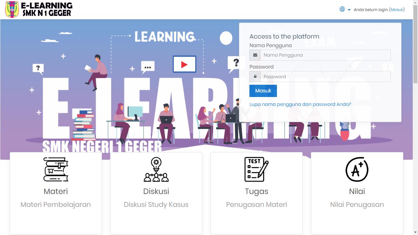 Pemanfaatan E-learning di SMKN 1 Geger sebagai Pembelajaran masa Pandemi