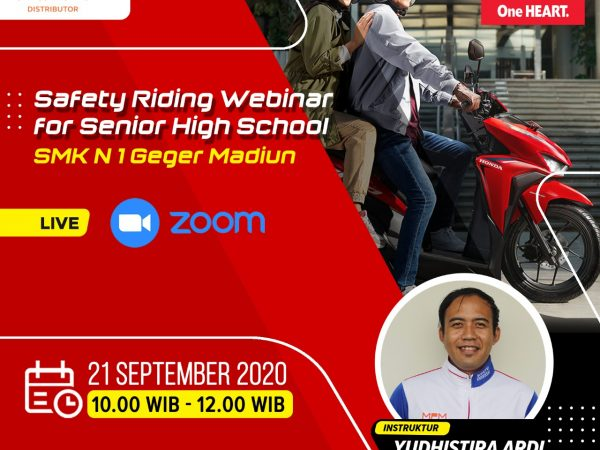 Safety Riding Webinar For Senior High School SMKN 1 Geger